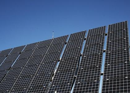 Painéis solares na escola