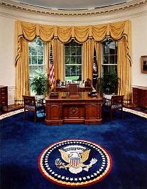 ?Ambiente familiar? no novo Salão Oval da Casa Branca