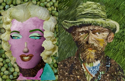 Legumes e verduras viram arte na China