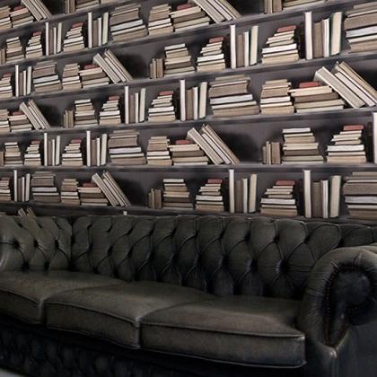 Livros na parede. Que tal?